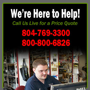 Call for local used auto parts prices in VA